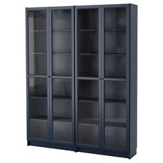 BILLY / OXBERG Bookcase, black-brown, glass, It is estimated that every five seconds, one BILLY bookcase is sold somewhere in the world. Pretty impressive considering we launched BILLY in Bookcase With Glass Doors, Glass Cabinet Doors, Glass Shelves, Bookcase White, Hemnes Bookcase, Billy Oxberg, Black And Brown, Dark Blue, Ikea Canada