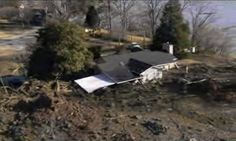 Kingston Fossil Plant coal fly ash slurry spill -A collapsed house inundated by the spill