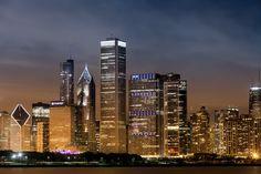 Skyline Chicago - Chicago skyline from the Adler Planetarium.