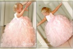 Pink organza flower girl