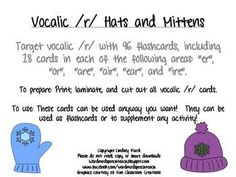 """FREEBIE!!  Target vocalic /r/ with 96 flashcards, including 18 cards in each of the following areas: """"er"""", """"or"""", """"are"""", """"air"""", """"ear"""", and """"ire"""""""