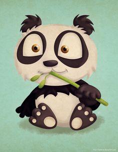 Cartoon Panda // Panda de caricatura