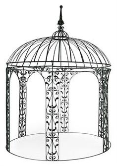 Rod Wrought Iron | GREEN PAINTED WROUGHT-IRON GAZEBO | MODERN | Private Collections ...