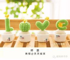 Watch The Video Splendid Crochet a Puff Flower Ideas. Phenomenal Crochet a Puff Flower Ideas. Cactus Amigurumi, Crochet Cactus, Crochet Art, Crochet Home, Love Crochet, Crochet Flower Patterns, Crochet Flowers, Yarn Crafts, Diy And Crafts