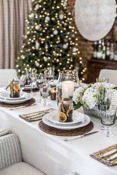 Stove Top Potpourri, Sweet Jars, Christmas Ham, Black House Exterior, Floral Foam, Christmas Table Decorations, Dinner Table, Table Centerpieces, Table Settings