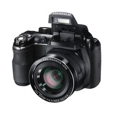 Fujifilm FinePix S4250 Black 16MP Digital Camera w/ 24x Optical Zoom,... ($199) ❤ liked on Polyvore featuring camera, accessories, electronics, technology and extras