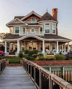 Trendy house exterior design dream homes bedrooms Ideas Dream Home Design, My Dream Home, One Home, Dream Big, Dream House Exterior, House Ideas Exterior, Home Exteriors, Home Styles Exterior, Cute House