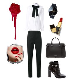 """""""Get Smart"""" by marleigh-erin on Polyvore featuring Yves Saint Laurent, Dolce&Gabbana, Valentino, Burberry and Tom Ford"""