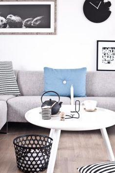 Via Stylizimo | HAY Lup and Dot Pillow | White Grey Blue