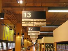 Loblaws at Maple Leaf Gardens, Toronto/Stencil font, AG Book Stencil®, applied to aisle signage