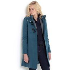 Long Hooded A-Line Duffle Coat R essentiel - Reefer Jackets & Duffle Coats