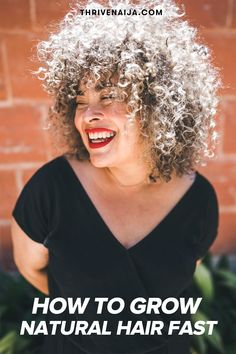 How to Grow Natural Hair Fast: The Complete Guide -- Avoid Heat Styling Tools Grow Natural Hair Faster, Natural Hair Care Tips, Natural Hair Growth, Natural Hair Styles, Hair Images, Hair Pictures, Hair Growth Tips, Hair Transplant, Hair Journey