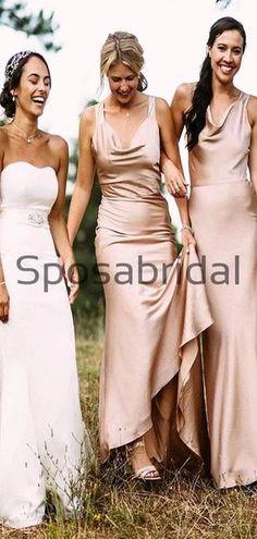 Cheap Mermaid Charming Long Elegant Bridesmaid Dresses WG876  #Long #mismatched #blush #summer #bridesmaiddress #fall #bridesmaiddresses #bridesmaids #weddingguest #wedding #Modestbridesmaiddress #cheapdress #mermaid #summer #beach Champagne Bridesmaid Dresses, Modest Bridesmaid Dresses, Prom Dresses, Formal Dresses, Wedding Dresses, Bridesmaids, Maid Of Honour Dresses, How To Make Shoes, Famous Brands