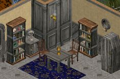 Small Tables, End Tables, Dog Tree, Antique Armoire, Tv Sets, Sims 1, Candle Lamp, Office Set, White Tiles