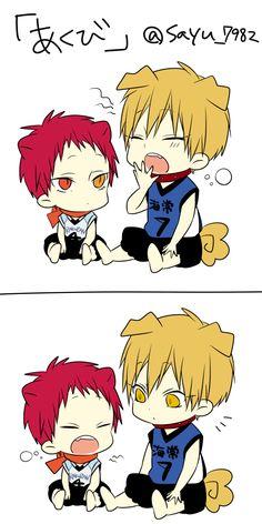 Kise and Akashi X3 so cute