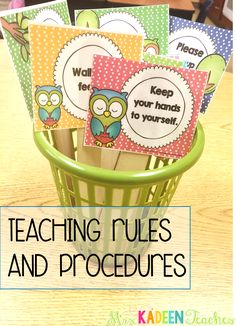 Cute idea for teaching rules and procedures the first week of school.