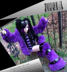 cybergoth girl, future fashion, violet, futuristic look, cyber girl, purple, neo punk, neo goth, cyberpunk