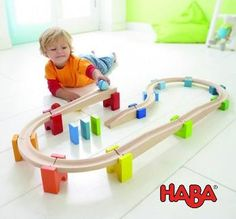 My First Ball Track Set by Haba - Wooden Ball Run. This might just be the best 2 year old toy EVER!