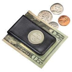 Add a sleek finishing touch to your business ensembles with this personalized leather money clip, a classic gift for the gentleman in your life....
