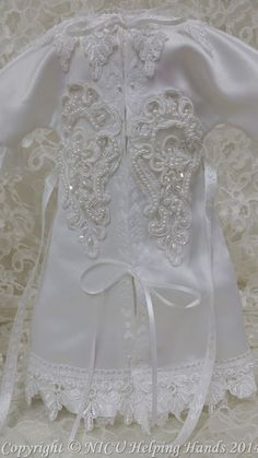 Made with love by a Sister Seamstress or Tailor @ nicuHelpingHands.org  #AngelGowns♥
