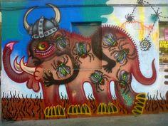 Elefante Mosca en Madrid - Graffiti en Malasaña