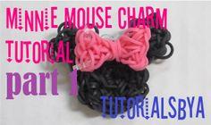 PART 1 Minnie Mouse Rainbow Loom Charm Tutorial - ORIGINAL DESIGN