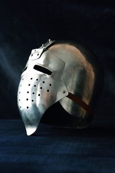 Helmet, hand hammered 2mm steel