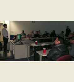 Kun Lee speaking to a packed house at the Baltimore SQL Server Users Group on Performance Baselining.