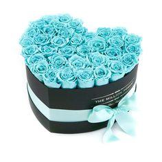 LOVE box - black - tiffany-blue ETERNITY roses tiffany-blue eternity roses - the million roses