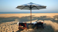 Umbrella for 2 please! The Leela Goa, Goa, India #SunSandSea