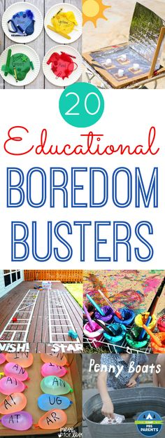 20 Educational Summer Boredom Busters - #HorizonSnacks #CuriousKids #ad Happiness is Homemade