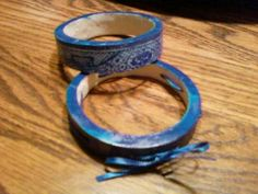 Hand drawn Blue Willow Inspired Jewelry Set - Drawn and clear coated.