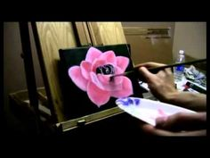 How to Paint a Pink Rose Tutorial - Acrylic Painting Lesson (+playlist)