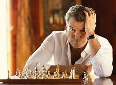 Pierce Brosnan - your move Marcel Duchamp, Pierce Brosnan 007, Madonna, Crisp White Shirt, Religion, Hollywood Celebrities, Man Crush, Beautiful Celebrities, Stylish Men