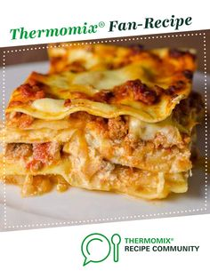 Recipe The Perfect Lasagne by learn to make this recipe easily in your kitchen machine and discover other Thermomix recipes in Main dishes - meat. Thermomix Recipes Healthy, Meat Recipes, Dinner Recipes, Cooking Recipes, Lasagna Recipes, Recipies, Recipe Box, Twice Cooked Pork, Kitchens