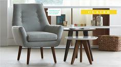 Light blue Claire armchair, reg.: $ 499, spec.: $ 399