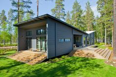 Photo 1 of 12 in 12 Scandinavian Prefabs That Embody High-Design Hygge from These 8 Log Cabin Kit Homes Celebrate Nordic Minimalism - Dwell Log Cabin Home Kits, Cabin Kit Homes, Small Log Cabin, Log Homes, Prefab Log Cabins, Modern Log Cabins, Modern Prefab Homes, Modular Homes, Bungalow