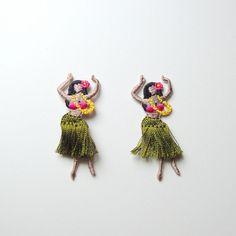 フラダンスイラストポップ女の子ハワイ สเกต フラダンス