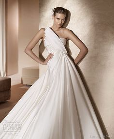 Elie by Elie Saab 2011 Pronovias bridal collection - Temis one-shoulder wedding gown