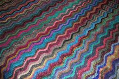 Gorgeous Noro Silk Garden Crocheted  Blanket QS by DotKnit on Etsy, $995.00