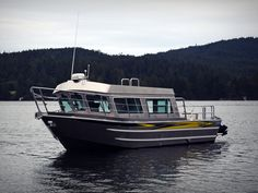 The Salish is a spacious off-shore model that is frequently used for law enforcement, commercial water taxis, sightseeing tours, harbour patrols, and . Aluminium Boats For Sale, Aluminum Boat, Cuddy Cabin Boat, Whale Watching Boat, Camper Boat, Family Boats, Cruiser Boat, Alaska Fishing, Boat Seats