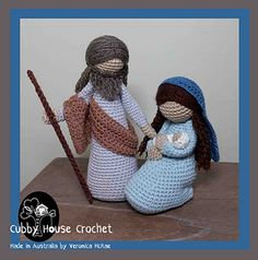 All the patterns you need to make this beautiful Nativity Set.