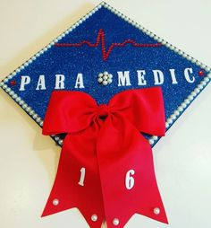 My Paramedic/ EMS graduation cap! This is the most crafty thing I'll ever do.