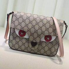 12a3a6bd1d1 Gucci Children s GG Supreme Cat Messenger Bag 410806
