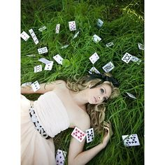 Whimsical Alice in Wonderland themed Photo Shoot Style Me Pretty 鉂?liked on Polyvore