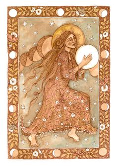 PRINT She Drums the Moon by lucypierce on Etsy, $40.00