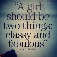 wise words from coco chanel.