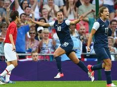 U.S. women win third-straight Olympic gold   Carli Lloyd celebrates after scoring the 1-0 lead against Japan during the women's gold medal match at the London 2012 Olympic Games on Aug. 9. (Photo: Nic Bothma / EPA) #NBCOlympics
