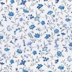 Vintage-Diary-Tapete-Rasch-Textil-255224-Blumen-Ranken-weiss-blau-2-70-1qm