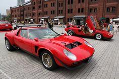 特別に展示されていた「イオタSVR」と「ウルフ・カウンタック」。スーパーカー世代に強烈に訴える、2台のスペシャルである。
